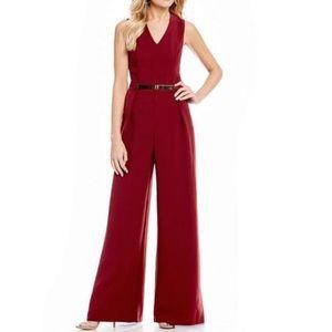 Red Sugarlips v-neck wide leg jumpsuit